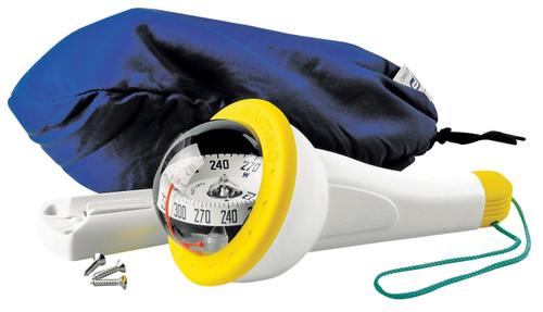 Iris 100 Handbearing Compass - Grey with Yellow Accent  No Lighting