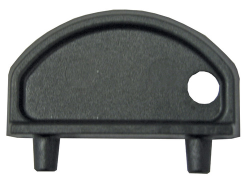 Vented Fuel Deck Fills -  Round Shaped, Straight Black Gasoline