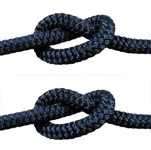 Rope - Double Braid Black 6mm x 1metre