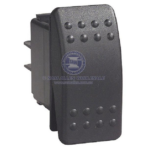 Image Indicative Switch Black On/Off/Momentary (On) Bilge Pump 12V 20Amp Rocker Switch