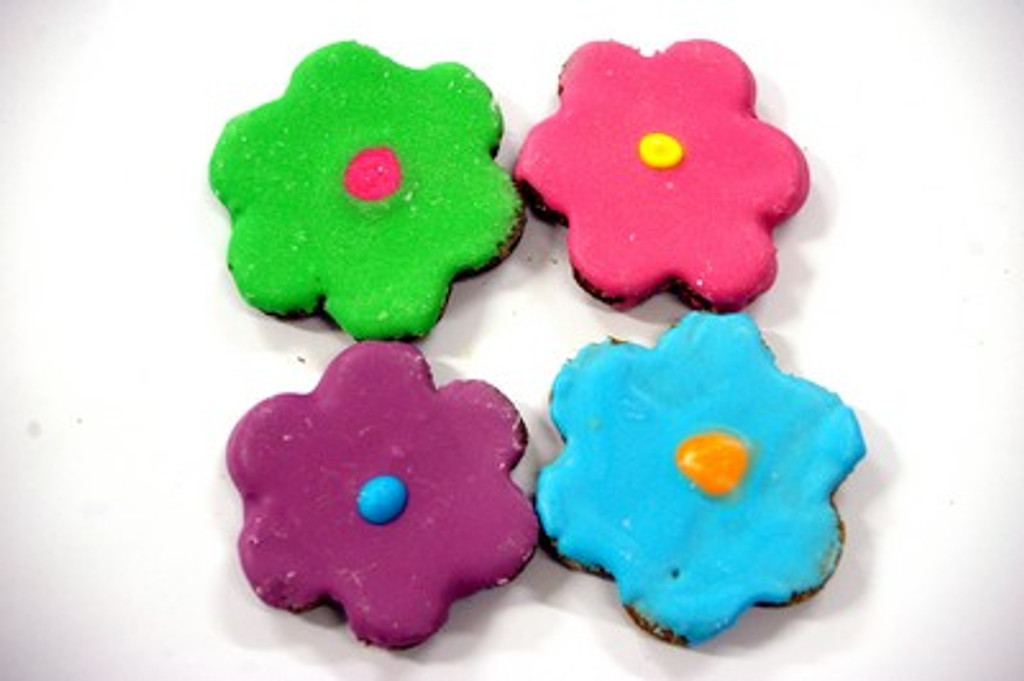 Fancy Flower Horse Treat - Horse Cookies - 3pce Australian made by Huds and Toke.  The Original Horse Treat Company.