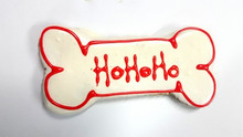 Huds and Toke Christmas Dog Treat - Ho Ho Ho Large Doggy Bone