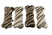 Carob and Yoghurt Frosted Bone Dog Treat Cookies 4pce