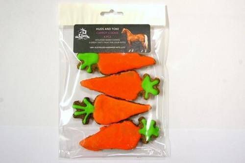 Carrot Horse Cookies 4pce - Horse Training Treats by Huds and Toke.  The original Australian Horse Treat Company.