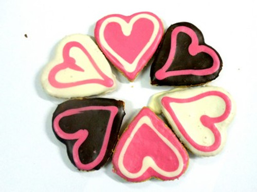 Big Doggy Love Heart Dog Cookie - 30pce Bulk Gourmet Dog Treats