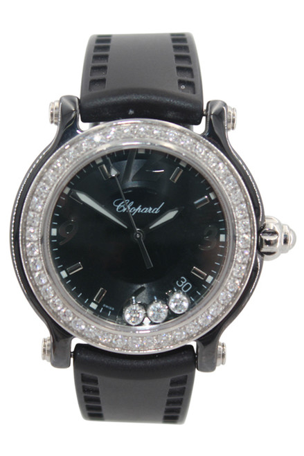 Chopard Happy Sport Diamond - Limited Edition - Stainless Steel - Black Dial - Ref. 28/8507