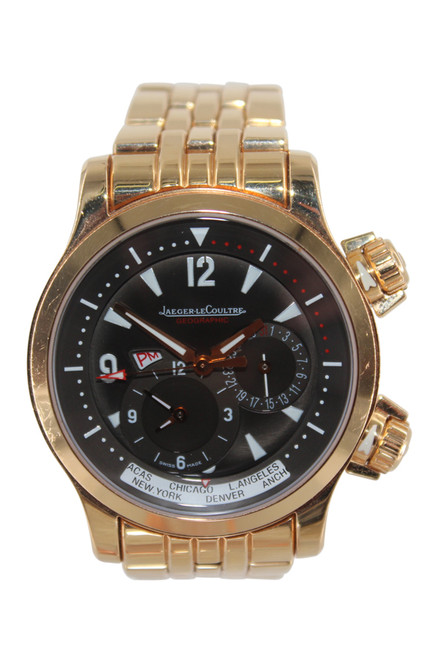 Jaeger-LeCoultre Rose Gold Master Compressor Geographic - Chocolate Dial and Rose Gold Bracelet - Ref. Q1712140