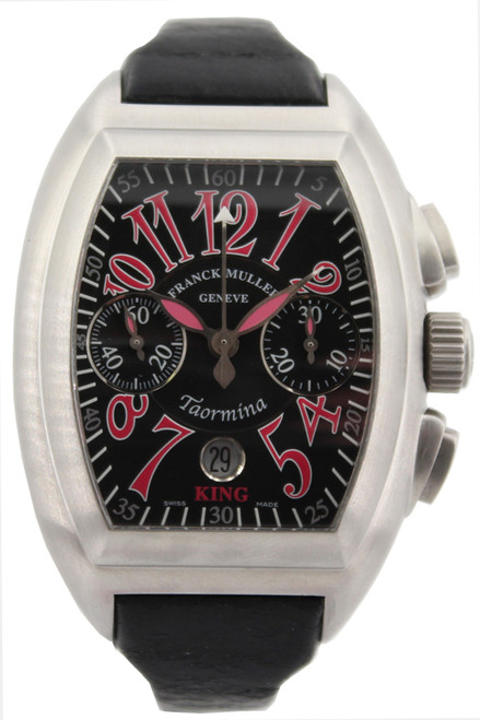 Franck Muller Geneve King Taormina Watch - Automatic  - Black Dial with Pink Arabic Markers - 174/200
