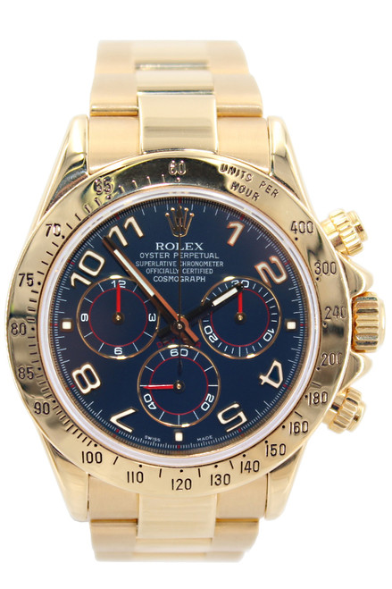 Rolex Oyster Perpetual Cosmograph Daytona-40mm-18K-Blue Arabic Dial-Ref. 116528