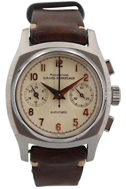 """Girard Perregaux """"Vintage 1960"""" - Chronograph - 38mm - Stainless Steel - Ivory Dial"""