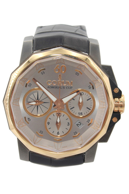 Corum - Admirals Cup - Challenger - Two Tone - 44mm - Silver Dial - Chronograph - Automatic - Ref. 753.771.24
