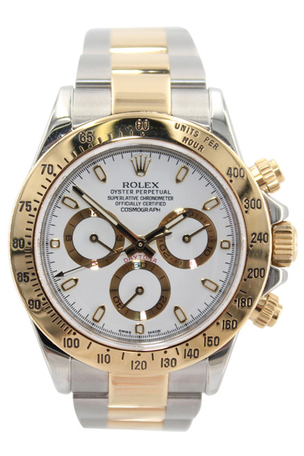 Rolex Oyster Perpetual Cosmograph Daytona - 40mm - Two Tone - White Stick Dial - Ref. 116503
