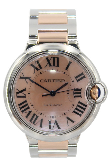 Cartier - Ballon Bleu - 18k Rose Gold and Stainless Steel - Pink MOP Dial - Automatic - Ref. W2BB0011