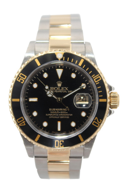 Rolex Oyster Perpetual Submariner Date - 40mm - Two Tone - Black Bezel Insert - Black Dial - Ref. 16613