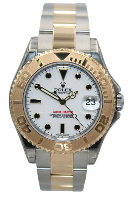 Rolex Oyster Perpetual Yacht-Master - 35mm - Two Tone - White Dial - Ref. 168623