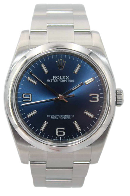 Rolex Oyster Perpetual - 36mm - Stainless Steel - Blue Dial - Smooth Bezel - Oyster Bracelet - Ref. 116000
