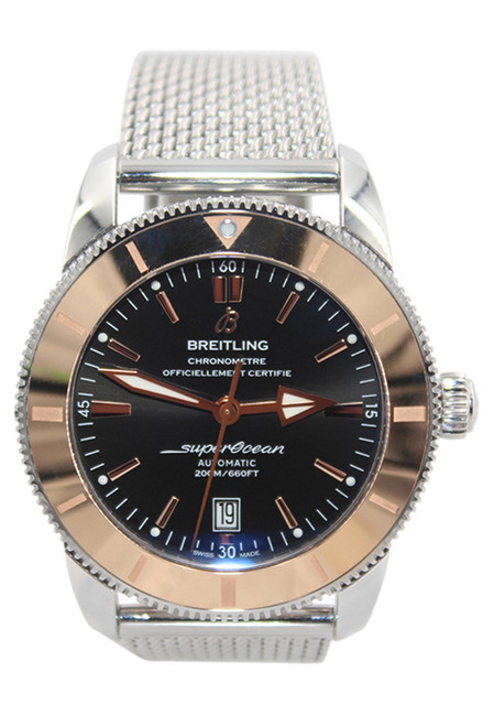 Breitling Superocean Heritage II - 46mm - Rose Gold/Stainless Steel- Black Dial - Rose Gold Bezel - Automatic - Ref. IB2020