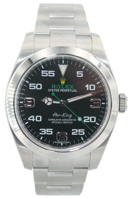 Rolex Air-King - 40mm - Stainless steel - Smooth Bezel - Black Arabic Dial -  Ref. 116900