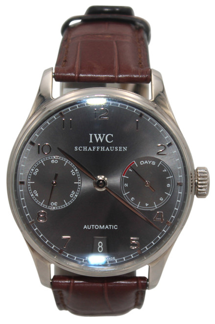 IWC Portuguese - 42mm - 18k WG - Grey Dial - Automatic - 7 Day Power Reserve - Ref. IW500106