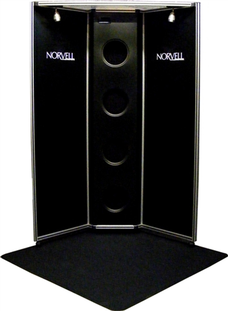 Norvell 4-Fan Sunless Tanning Over spray Booth Black