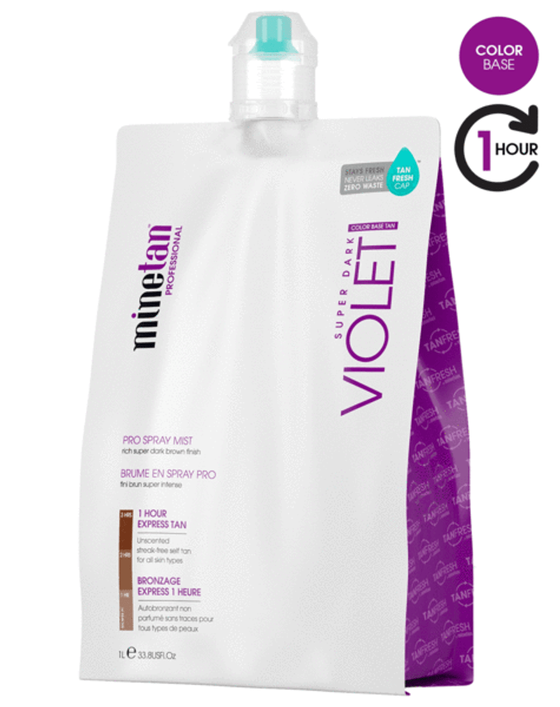 MineTan Violet Spray Tan Solution, 33.8 oz