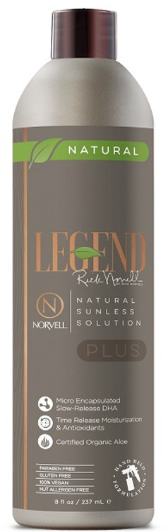 Legend Plus by Rick Norvell Natural Sunless Solution, 8 oz