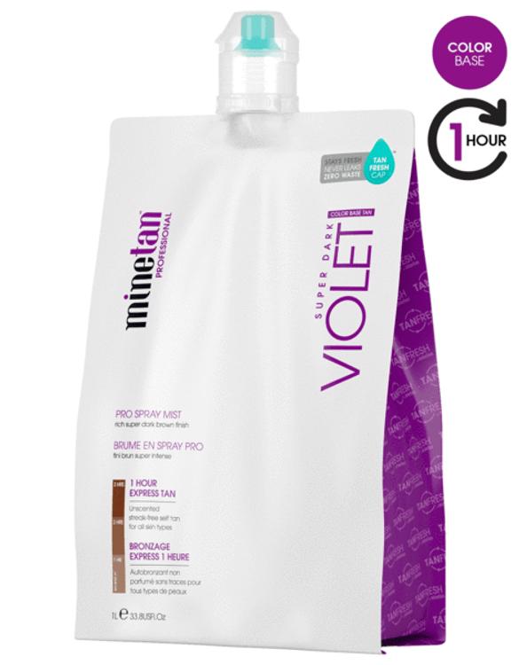 MineTan Violet Spray Tan Solution, 33.8 oz