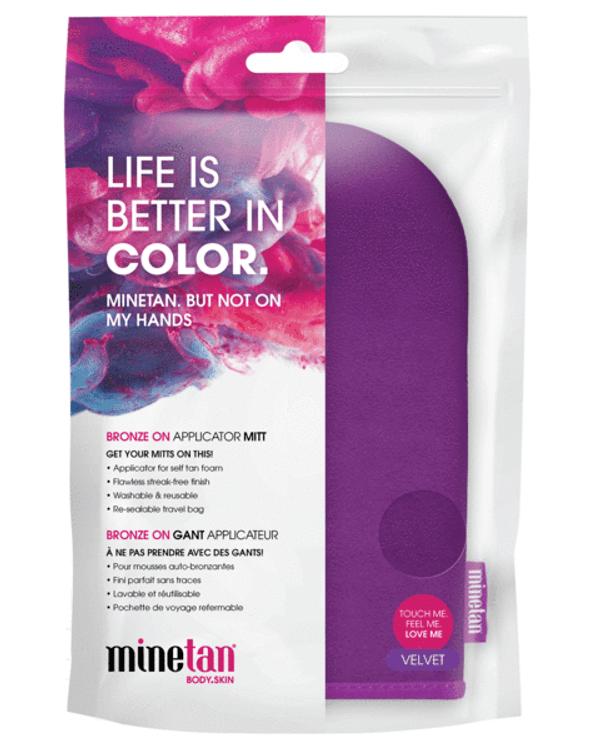 MineTan Bronze On Applicator Mitt Better in Color