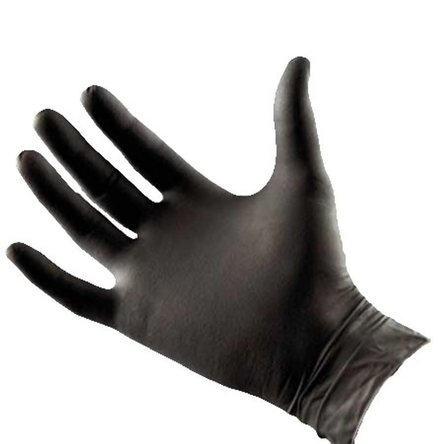 Black Latex Free Nitrile Spray Tan Technician's Gloves, 100-Count