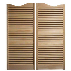 "Saloon Doors/Cafe Doors-Louvered 36"" Door Opening / 3' Door Opening"