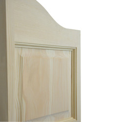 Side View (Oak Material) Cottage Style Double Arch Saloon Doors | Swinging Cafe Doors