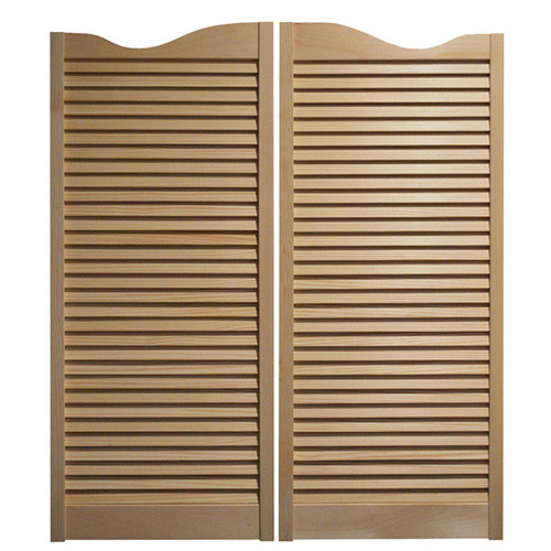 "Cafe Doors / Saloon Doors -Louvered Fits Any 32"" Door Opening / 2' 8"" Door Opening x 42"" Tall Doors Hardware Included"