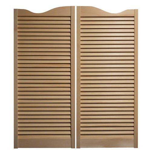 Cafe Doors / Saloon Doors -Louvered Fits Any 32  Door Opening / 2u0027  sc 1 st  Swinging Cafe Doors & Custom Made Saloon Doors | Swinging Cafe Doors 24