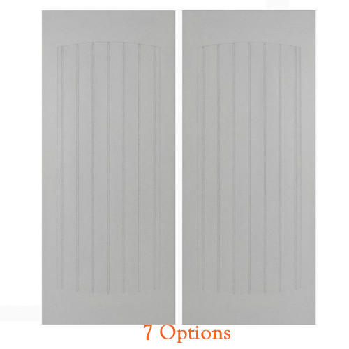 "Craftsman Beadboard Saloon Doors | Cafe Doors Fits Any 24"" Door Opening / 2' Door Opening x 40"" Tall - Primed 