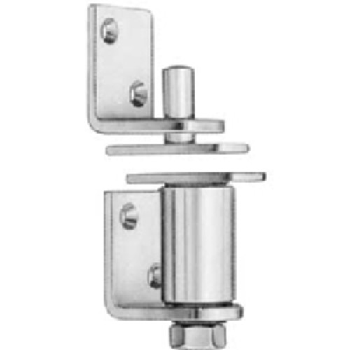 Bommer Commercial Grade Gravity Louver Door Pivot Hinge Swinging Doors | Cafe Doors | Saloon Doors - 7512 Bright Chrome NON-Hold Open