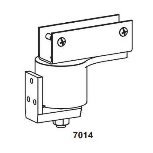 "Bommer 7014 Non-Adjustable Steel Surface Pivot Box Clamp Door Bracket Hinge | Swinging Cafe Doors | Saloon Doors - Up to 36"" Doors"