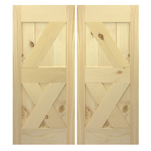 Interior Sliding Barn Doors | Double Interior Barn Doors | Hanging Barn Doors |  Single Z and X Style