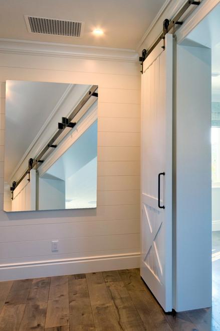 Custom Single Barn Doors | Interior Barn Door Style Framed Batten Board Unfinished