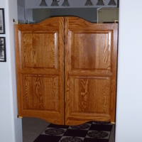 Cottage Style Bathroom Cafe Doors