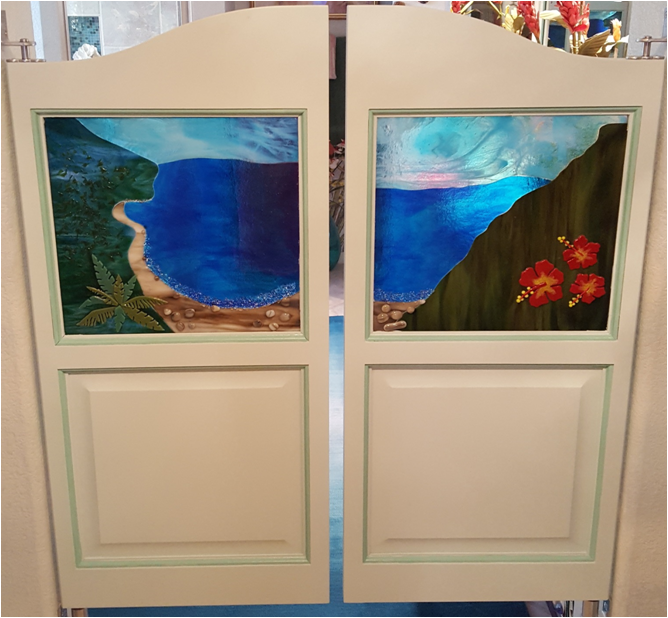 Custom Saloon Door with Glass Kit