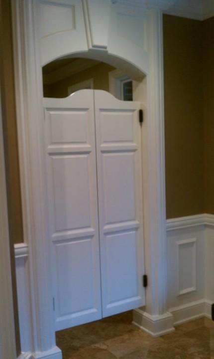 Custom White Saloon Doors