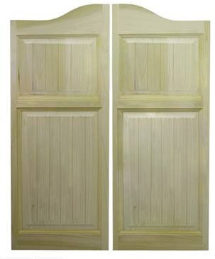 Craftsman Saloon Doors- Arched Top