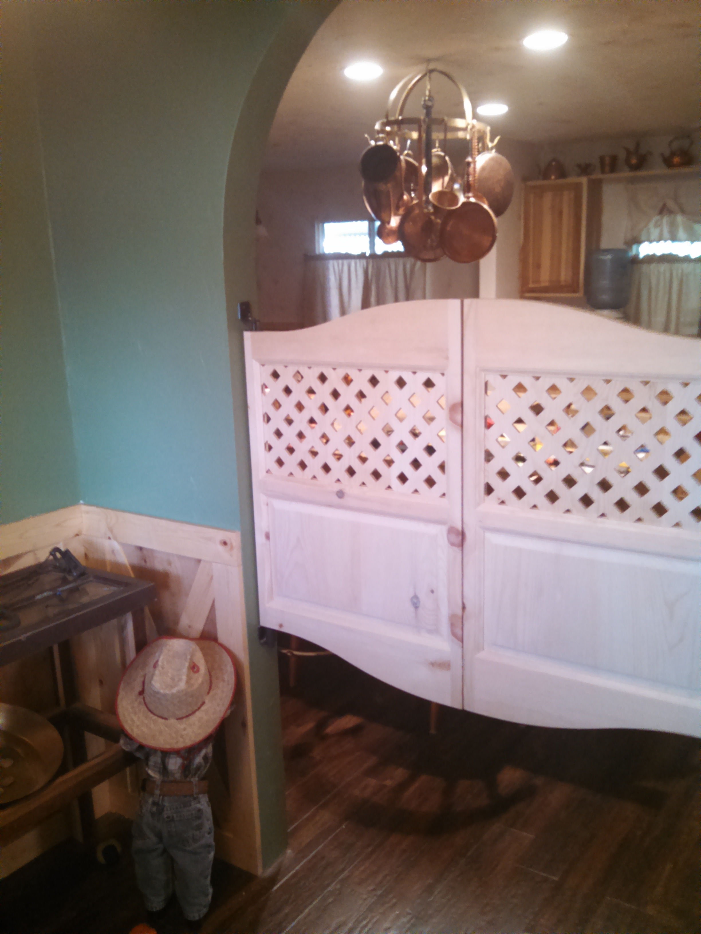 Custom Saloon Doors Lattice Style