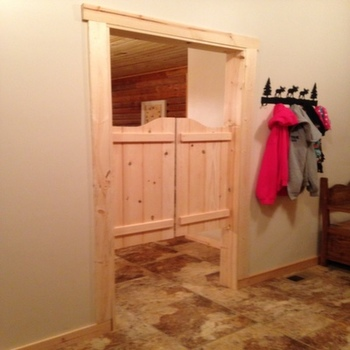 Mudroom | Entryway Swinging Cafe Doors