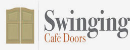 Swinging Cafe door logo
