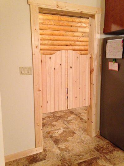 Pine Kitchen | Mudroom Saloon Doors