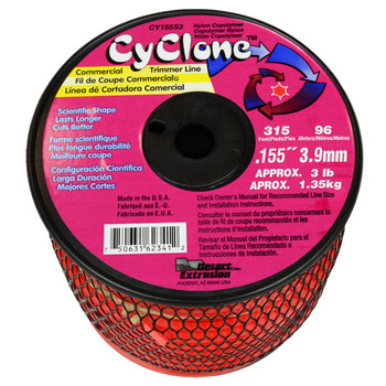 """Cyclone CY155S3 0.155"""" 315ft Red Replacement String Trimmer Line"""