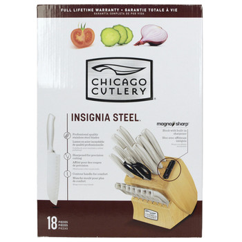 Chicago Cutlery 18pc Insignia Knife Set with Taper Grind Edge Tech