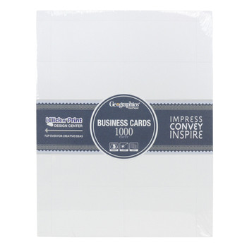 Business cards sheet protectors helton tool home geographics 46102 1000ct matte white business cards accmission Choice Image