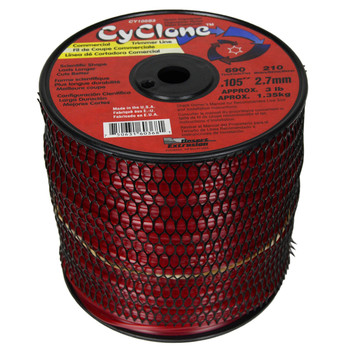 """Cyclone CY105S3 0.105"""" 690ft Red Commercial Trimmer Line"""